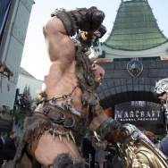 "Statues are seen in front of the Chinese Theater during the premiere of ""Warcraft"" in Hollywood, California, on June 6, 2016."