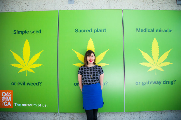 Sarah Seiter curated the new Marijuana exhibit for the Oakland Museum of California