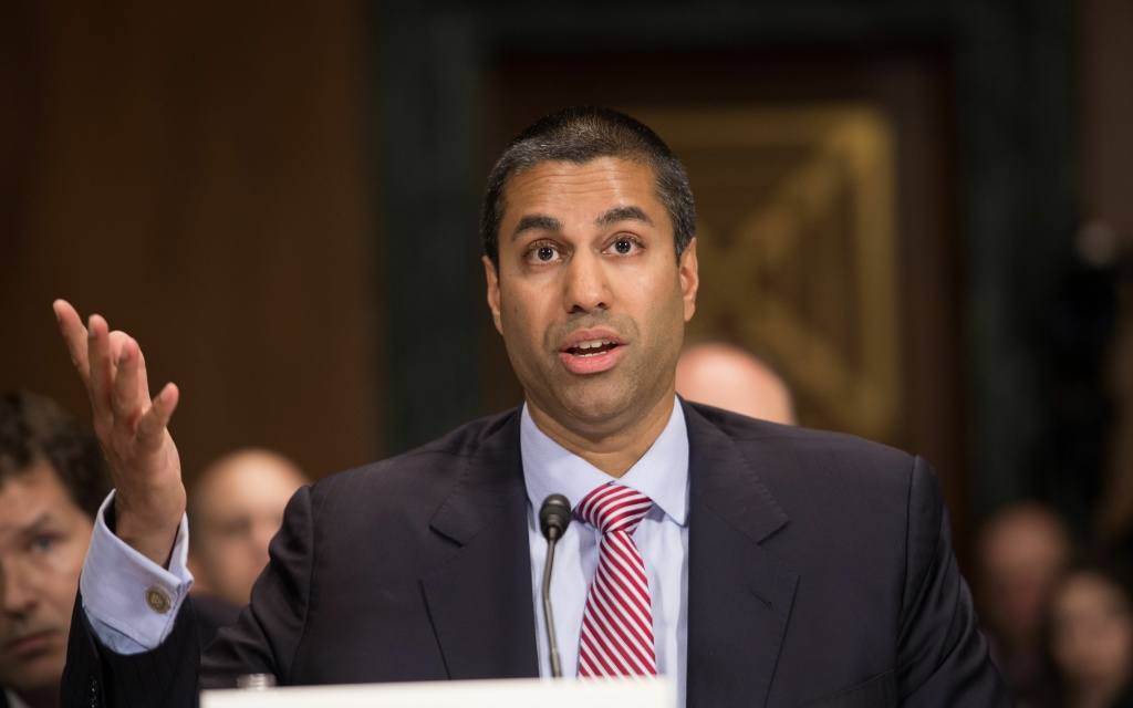 Federal Communications Commission (FCC) Commissioner Ajit Pai testifies before the Senate Judiciary Committee's Privacy,