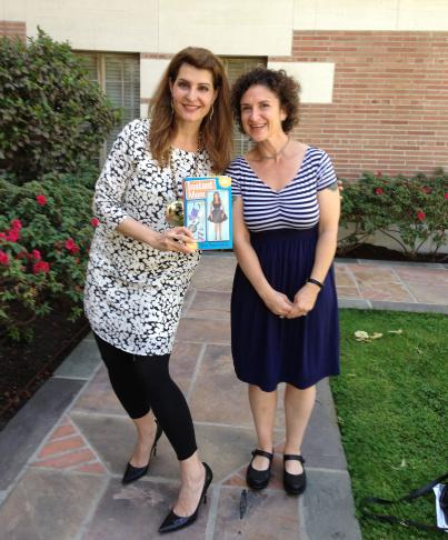 Take Two host Alex Cohen and actress/author Nia Vardalos.