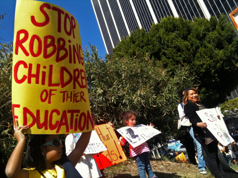 Teachers and students in LAUSD's Adult Education ...