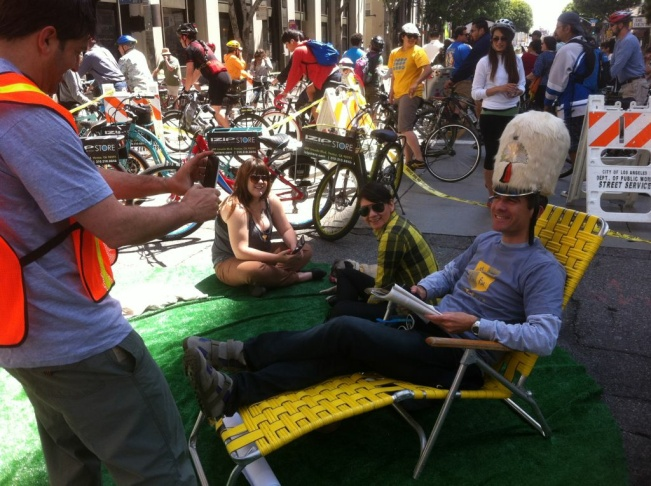 Garcetti at cicLAvia