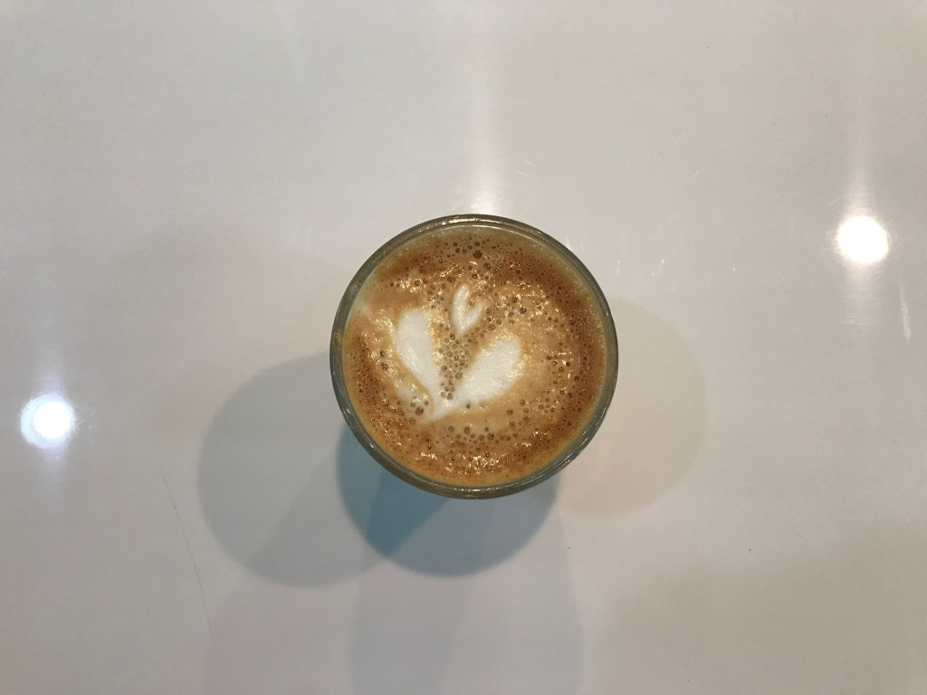 A tulip, poured by Cuties co-owner Virginia Bauman.