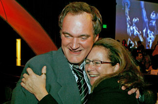 Writer/director Quentin Tarantino and editor Sally Menke attend the 57th annual ACE Eddie Awards cocktail reception held at the Beverly Hilton Hotel on February 18, 2007 in Beverly Hills, California.