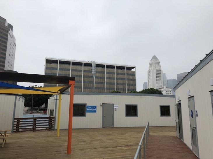 The first homeless shelter under Mayor Eric Garcetti's