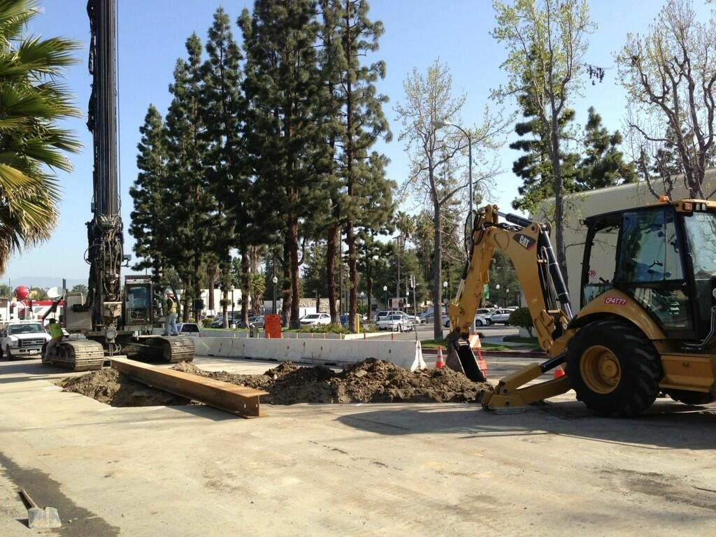 Construction on Coldwater Canyon Avenue.