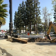 Construction has already started on Coldwater Canyon Avenue.