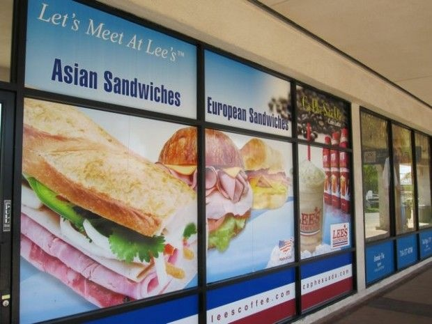 The storefront of a Lee's Sandwiches in Westminster, August 2010