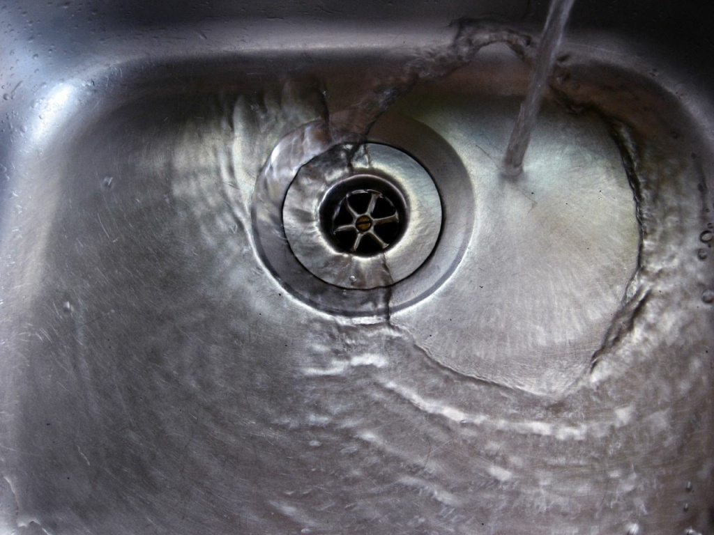 A running faucet sends about two gallons of water down the drain every minute.