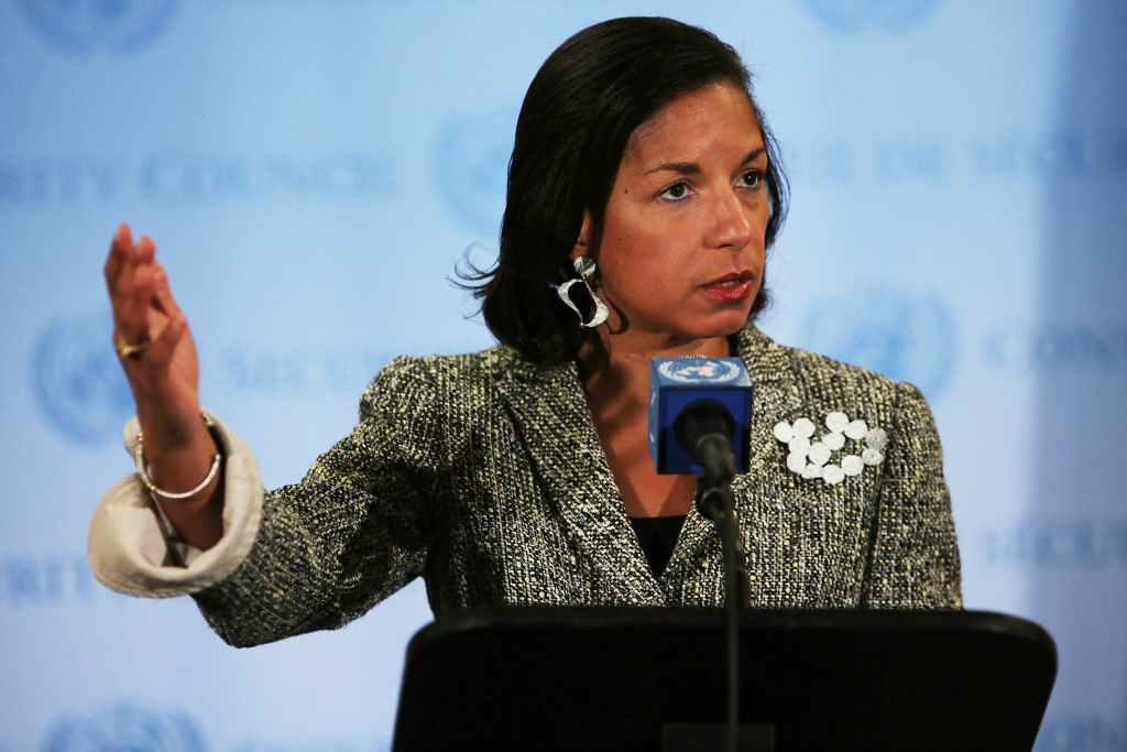 U.S. Ambassador to the United Nations Susan Rice addresses the media following a UN Security Council meeting on July 11, 2012 in New York City. At the meeting the UN and Arab League peace envoy for Syria, Kofi Annan, said via a video conference from Geneva that the UN Security Council is discussing what action it could take next to address the crisis.