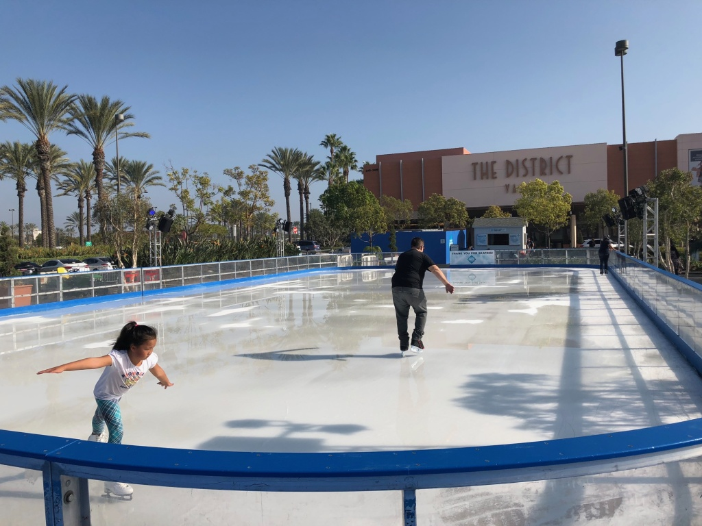 The pop-up ice rink at The District in Tustin in November 2017.