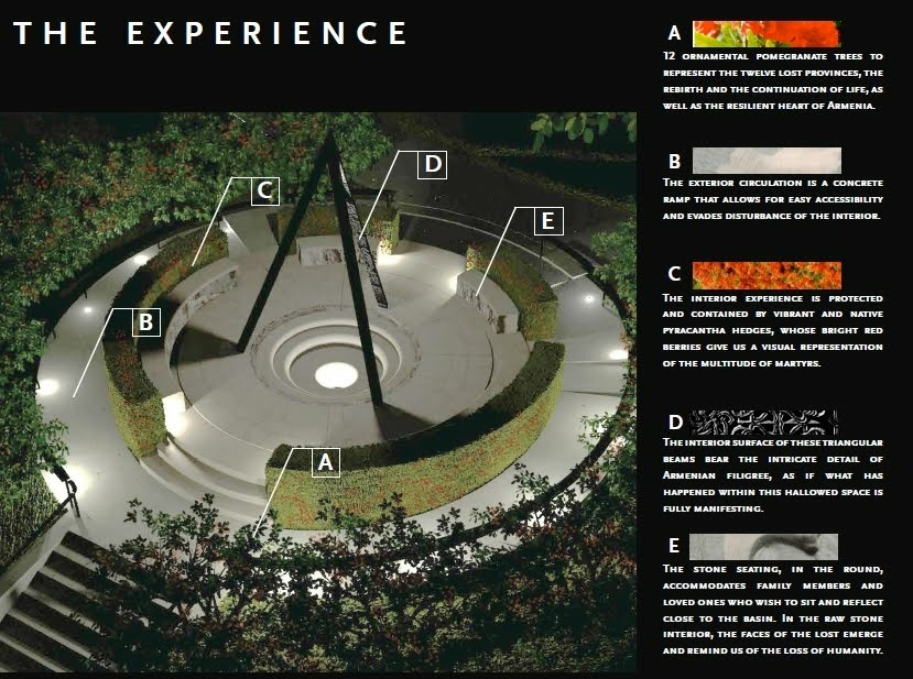 The design for an Armenian Genocide memorial approved by the Pasadena City Council on Wednesday, Sept. 11, 2013.