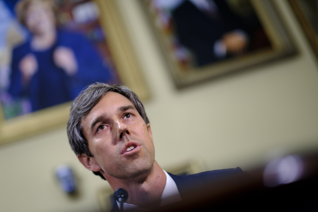 Rep. Beto O'Rourke (D-TX) offers an amendment to the National Defense Authorization Act for approval so it can be debated on the floor of the House on July 12, 2017 in Washington, DC.
