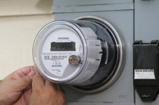 "A Southern California Edison ""smart meter."""