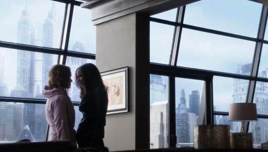 The lesbian characters Barbara Gordon (left) and Renee Montoya from Fox's Gotham.