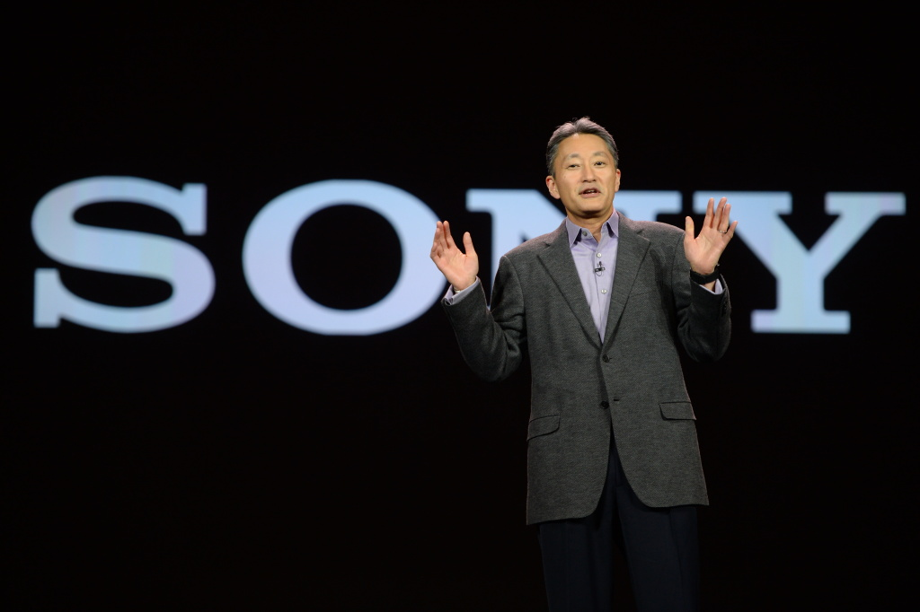 Sony CEO and President Kazuo Hirai gives his keynote address on the opening day of the 2014 International CES on January 7, 2014 in Las Vegas, Nevada.