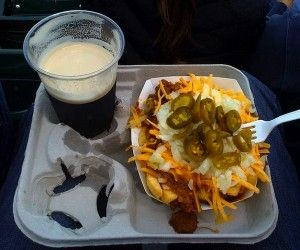 Yes, it's the Irish Nachos, that pinnacle of culinary fusion. A Guinness helps.