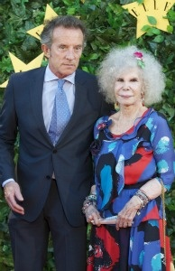 Duchess of Alba, Cayetana Fitz-James Stuart and Alfonso Diez attend ELLE Awards 25th Anniversary at the Matadero cultural center on June 30, 2011 in Madrid, Spain.