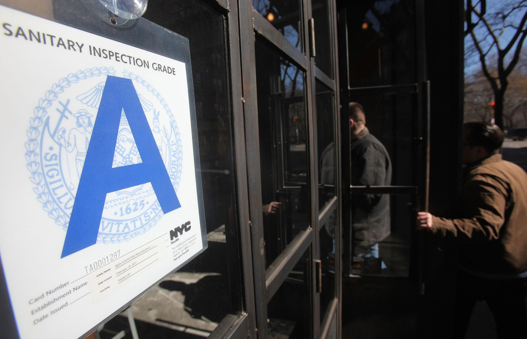 FILE:  A Manhattan wine bar rated with a Health Department