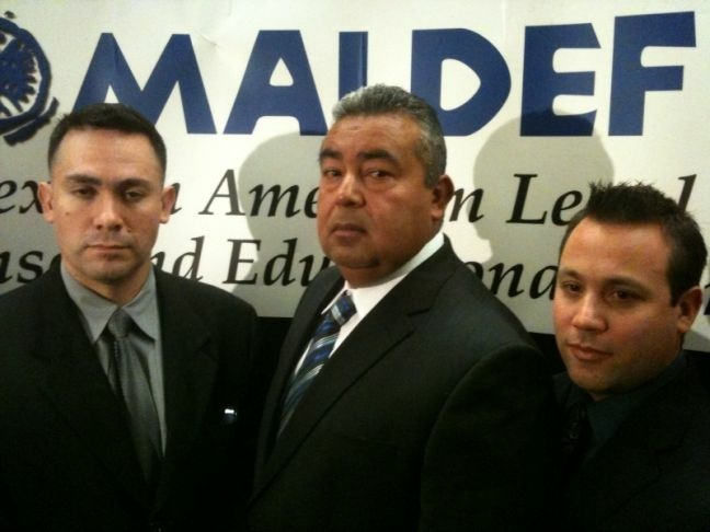 A federal jury Thursday awarded $3.5 million to three Latino Westminster Police Department officers in their discrimination and retaliation lawsuit against the city of Westminster and the current and three former city police chiefs.  An attorney for the city and chiefs said the ruling may be appealed. (From left to right: Brian Perez, Jose Flores, Ryan Reyes).