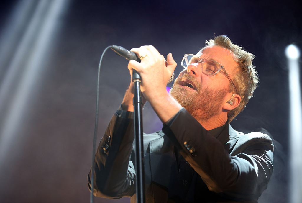 BYRON BAY, AUSTRALIA - JULY 27:  Matt Berninger of The National performs for fans on day 2 of the 2013 Splendour In The Grass Festival on July 27, 2013 in Byron Bay, Australia.  (Photo by Mark Metcalfe/Getty Images)