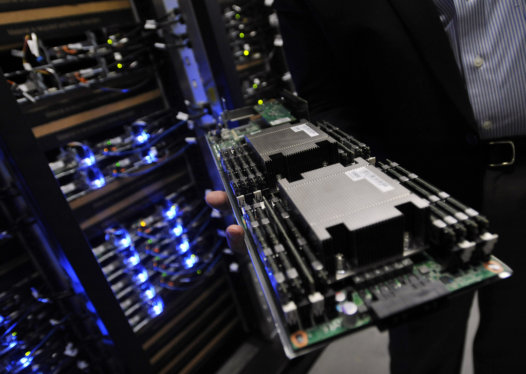 A server tray is seen on April 19, 2012 in Forest City, North Carolina.