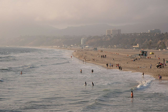 Santa Monica Beach got an A rating from Heal the Bay.