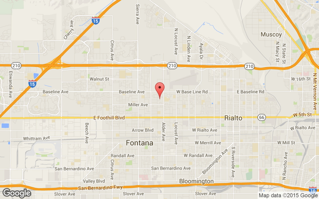 Map Fontana police shoot kill suspect while responding to