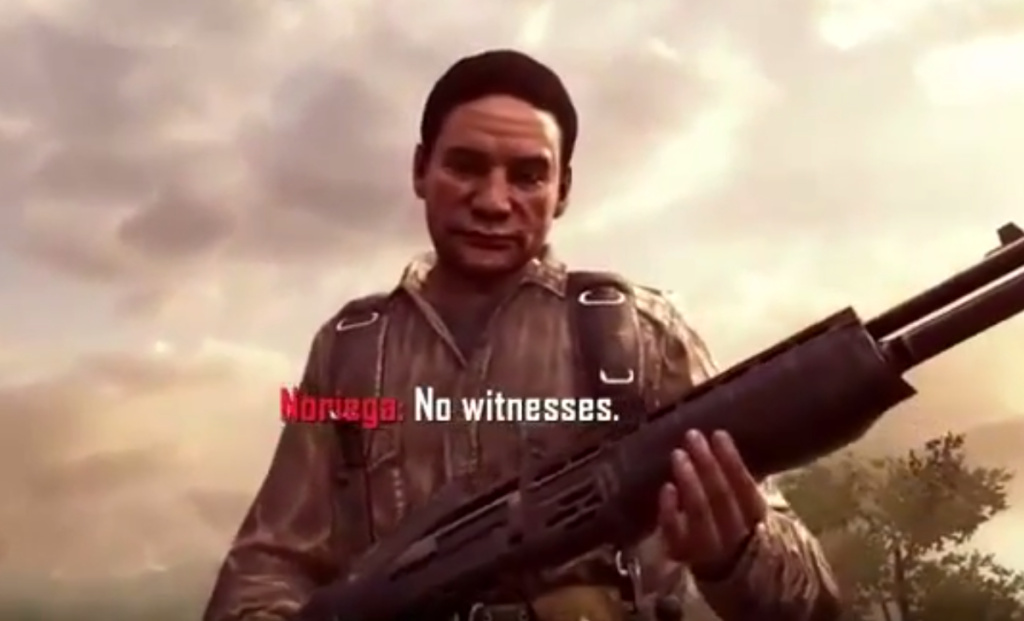 Screen shot of Manuel Noriega in the video game