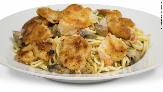 The Bistro Shrimp and Pasta dish from Cheesecake Factory has 3,000 calories and tops the list of the worst restaurant foods for 2012.