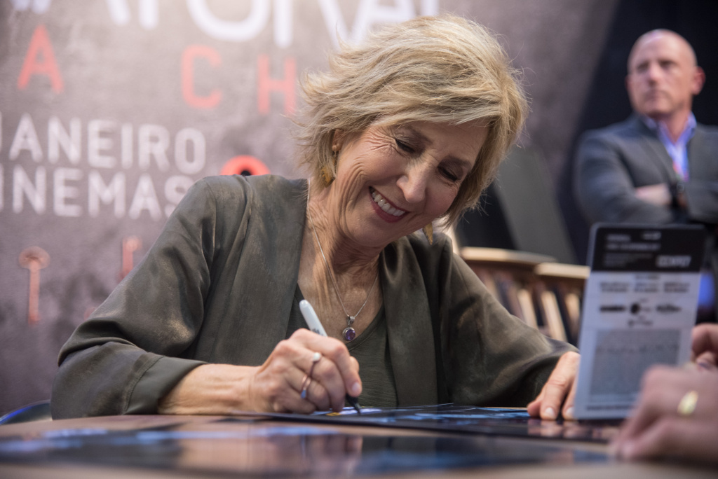 Actress Lin Shaye attends Brazil Comic Con (CCXP) 2017, Insidious: The Last Key Panel  attends Brazil Comic Con 2017 on December 9, 2017 in Sao Paulo, Brazil.