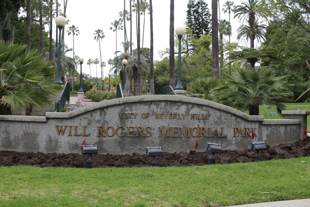 Beverly Hills has kept its outdoor parks and tourist attractions, like Will Rogers Memorial Park, mostly verdant during the drought. The city has fallen behind on water conservation, according to a KPCC analysis.