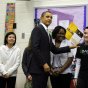 Obama Gives Speech On Education At Virginia Middle School