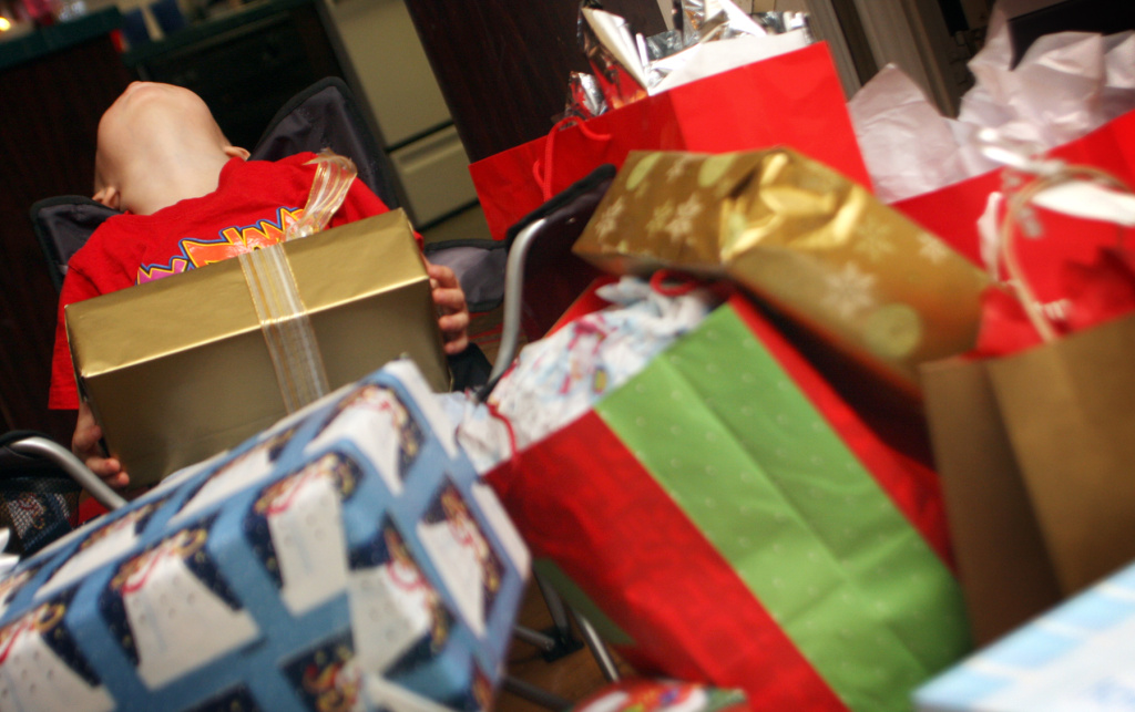 How do you teach little ones the importance of giving around the holidays?