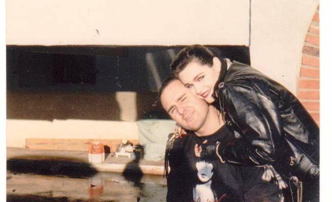Bobbi Brat with her longtime boyfriend, Drac Conley