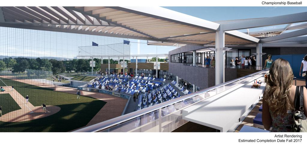 Artist rendering of the baseball field in progress at Orange County's Great Park.