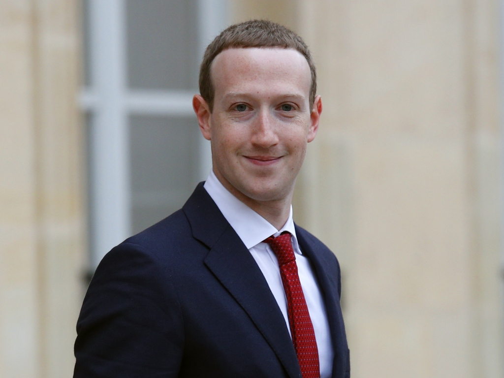 Facebook CEO Mark Zuckerberg, pictured earlier this month in France, told reporters on Thursday, the tech giant is making great strides in fighting hate speech and crime online.