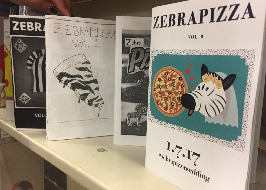Some of Ziba's zines can also be checked out at the Long Beach Public Library.