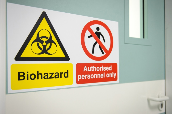 EBOLA biohazard hospital sign