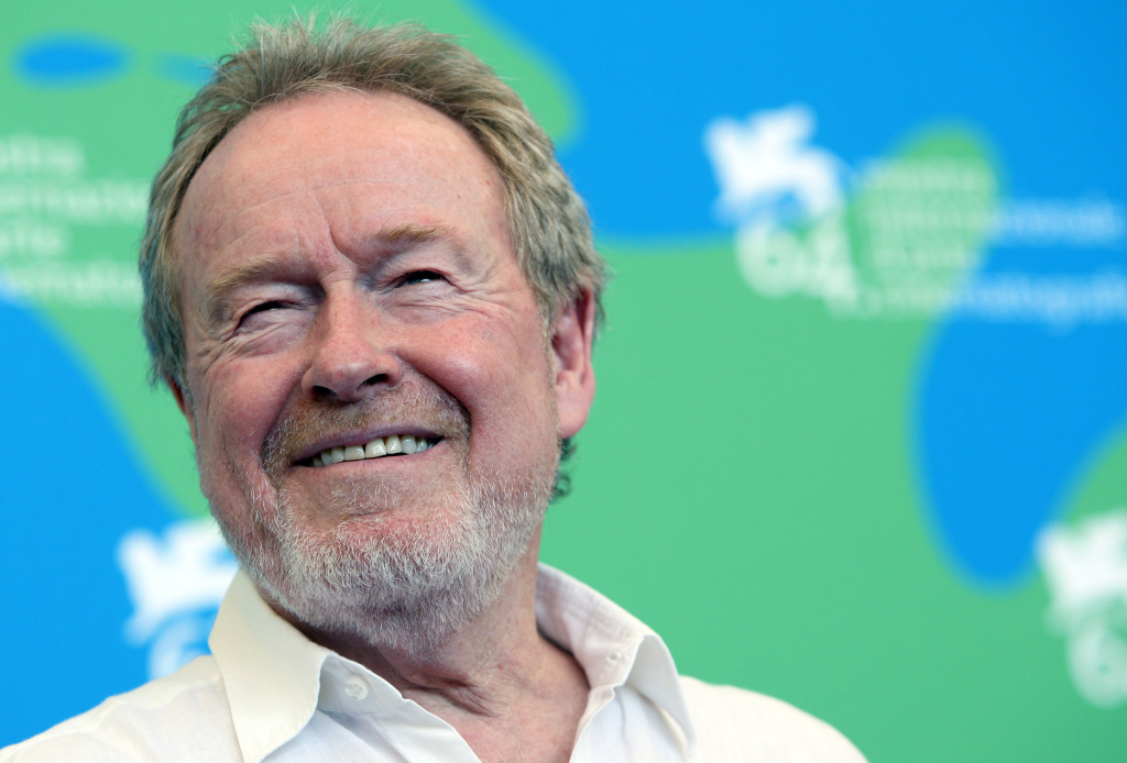 English director Ridley Scott poses during a photocall for the movie