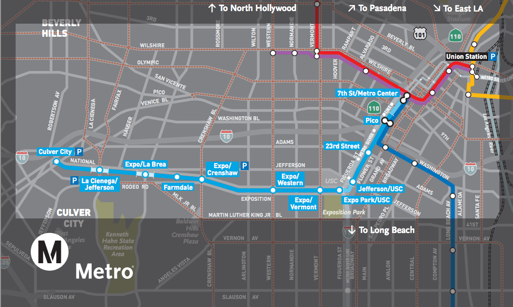 Route of the new Expo Line.