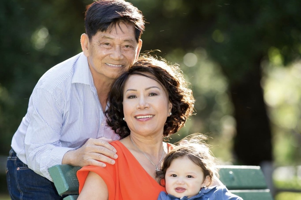 Helen Huynh (center), 61, from Garden Grove is battling an aggressive form of leukemia that could be stopped with a stem cell transplant from her sister, who recently arrived from Vietnam after a months-long struggle to be allowed into the country.