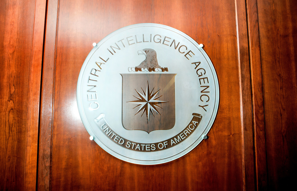 A seal at the CIA headquarters, photographed in February 2016. The alleged CIA documents reveal a hacking program that is very different from the one uncovered by Edward Snowden's NSA leak.