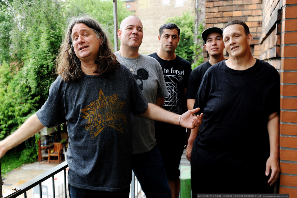 Tony Cadena, far left, singer for the Adolescents says he was drawn to punk music in the late 1970s because it was