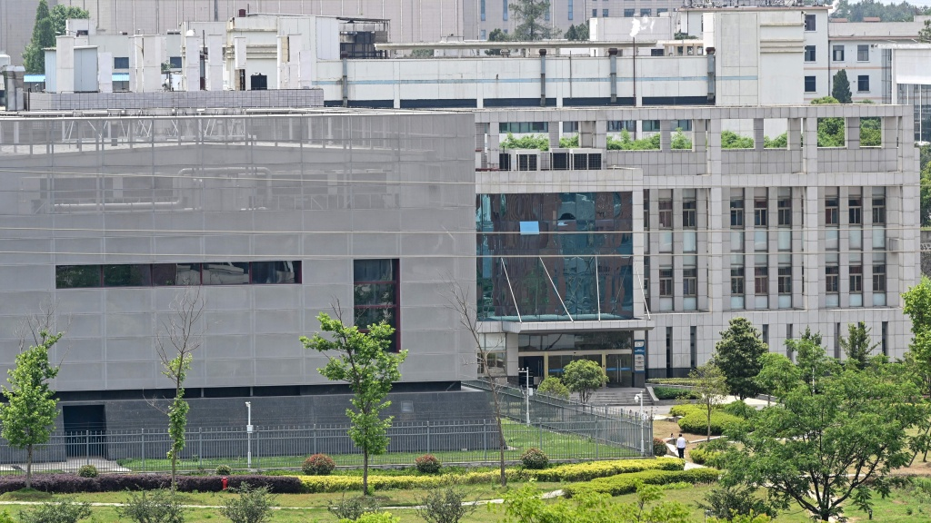A laboratory building at the Wuhan Institute of Virology in Wuhan, China, is seen on May 13, 2020.