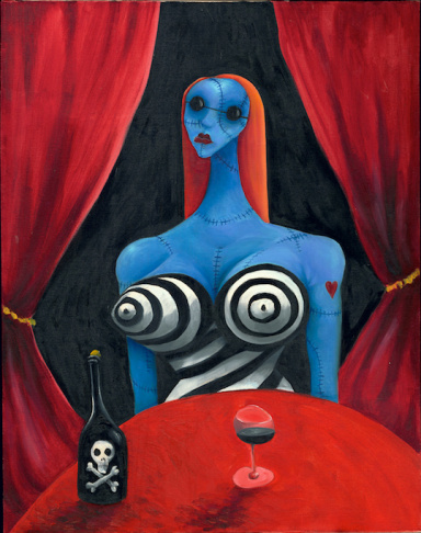 Tim Burton's Blue Gril with Wine