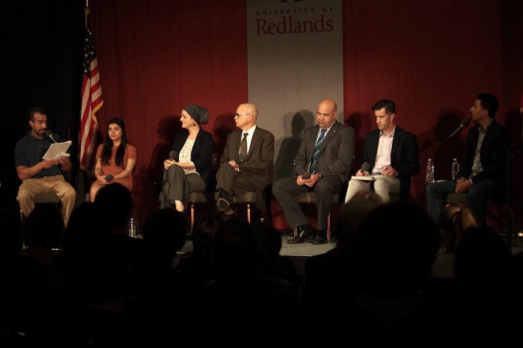 From l-r:  Take Two's A Martinez, plus panelists  Xiadani, Edina Lekovic, Niels Frenzen, Chief Jarrod Burguan, Steve Wuhs and Take Two reporter, Dorian Merina
