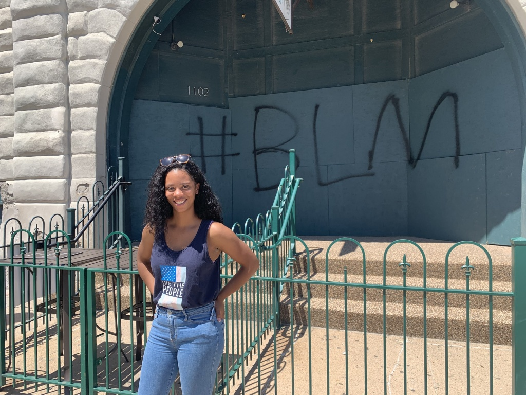 Morgann Freeman, an activist in Omaha, Neb., ran for Congress last year. She says the best way to bring about change is through the ballot box.