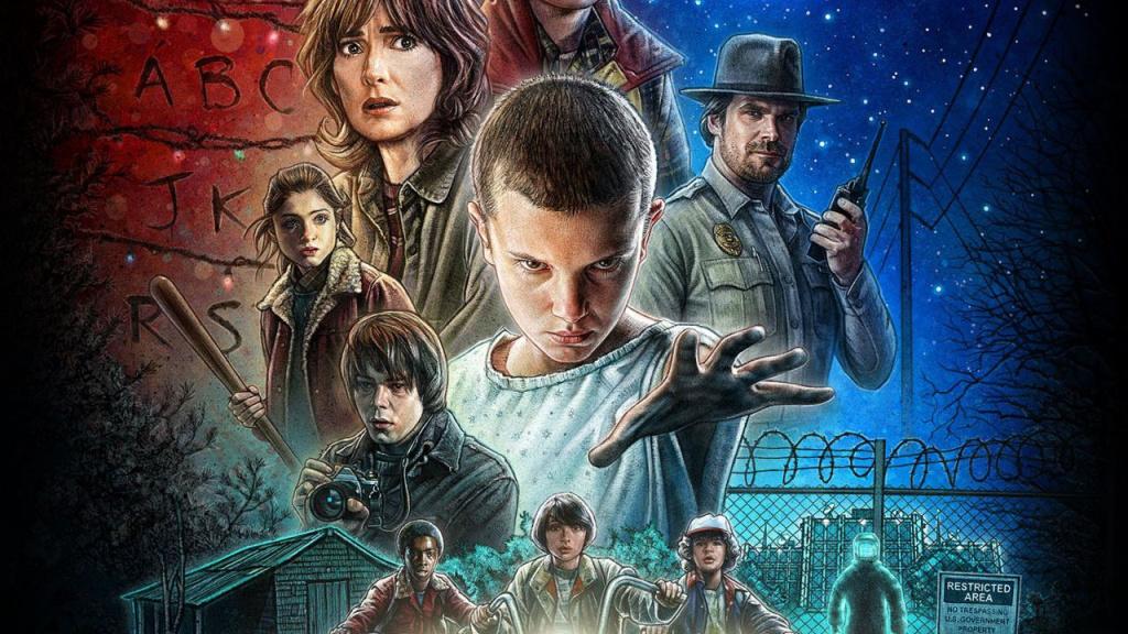 Cover art for the Netflix show, Stranger Things
