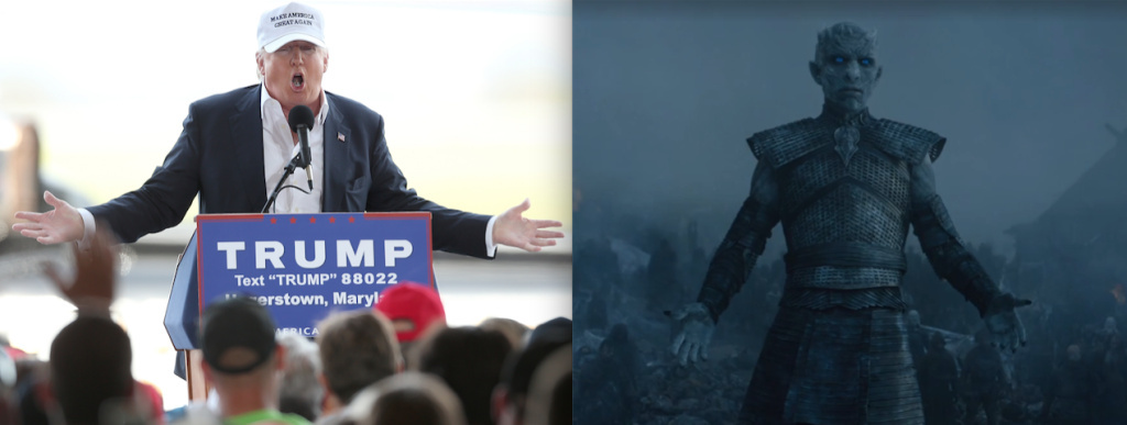 Professor Stephen Dyson compares presidential candidate Donald Trump to Game of Thrones character the Night King.